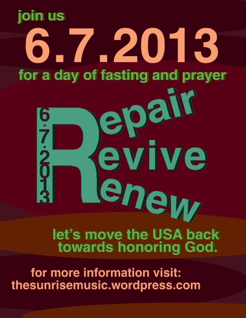 Repair : Revive : Renew 6.7.2013